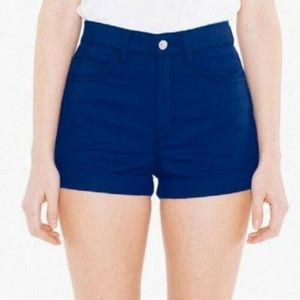 American Apparel high rise denim shorts